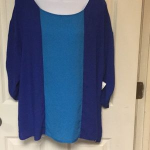 Old navy blouse size xl blue multicolor